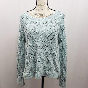Ann Taylor Loft Open Knit Sweater Large